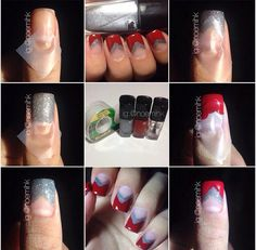 Step by step to #winter #nails by @noemihk. #LancomeLovesNails