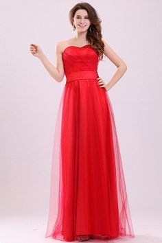 Cheap tulle evening dress, Buy Quality evening dress directly from China evening dresses vestido Suppliers: Simple Elegant Red Sweetheart Strapless Tulle Evening Dress Vestidos De Gala Party Dress Pageant Dresses For Women, Cheap Evening Dresses, Homecoming Dresses, Affordable Bridesmaid Dresses, Satin Bridesmaid Dresses, Party Gowns, Wedding Party Dresses, Silhouette, Dress Vestidos