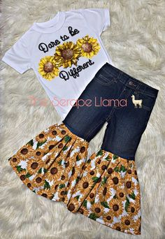 Date to be different tee - Baby Clothes Western Baby Clothes, Trendy Baby Clothes, Cute Baby Girl Outfits, Kids Outfits Girls, Cute Outfits For Kids, Baby Kids Clothes, Toddler Girl Outfits, Country Baby Clothes, Kids Clothing