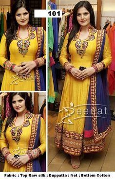 Zarine Khan Yellow Anarkali by Arisha-101 - Online Shopping Marketplace Shopdrill.com