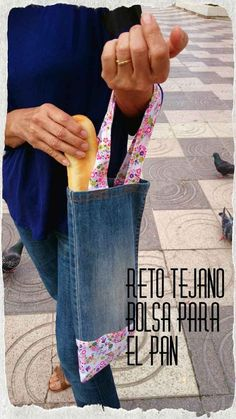 14 ideas chulas para reciclar vaqueros o jeans ¡Yes! - Swanky Tutorial and Ideas Denim Tote Bags, Denim Purse, Recycle Jeans, Upcycle, Sewing Hacks, Sewing Projects, Sewing Diy, Diy Summer Clothes, Diy Clothes Refashion