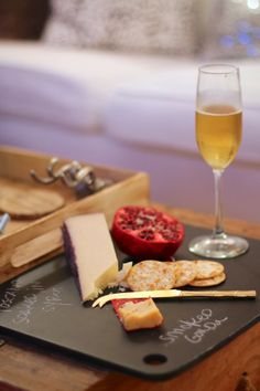 Friday's Five - chalkboard cheese tray