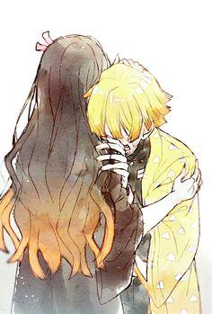 Nezuko e Zenitsu Manga Anime, Anime Demon, Anime Art, Zen, Devilman Crybaby, Demon Hunter, Dragon Slayer, My Demons, Slayer Anime