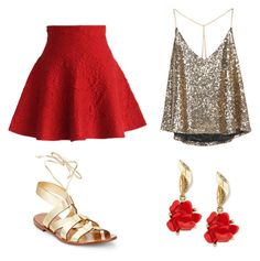 """""""Mushu"""" by supergeekgirl591 on Polyvore featuring Chicwish, Kate Spade and Oscar de la Renta"""