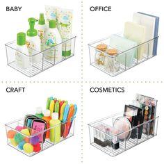 Bathroom Storage Boxes, Food Storage Organization, Refrigerator Organization, Notebook Organization, Office Supply Organization, Container Organization, Office Storage, Plastic Storage Containers, Storage Ideas