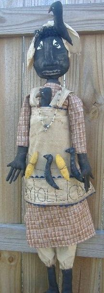 Primitive Mammy With Crows by Rabbithollowprims on Etsy, $65.00