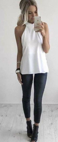 26 modelos de blusas cuello halter http://beautyandfashionideas.com/26-modelos-blusas-cuello-halter/ 26 models of halter neck blouses #26modelosdeblusascuellohalter #blusasdemoda #Fashion #fashionoutfits #Ideasdeoutfits #Moda #outfitsdemoda #Trends