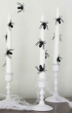 DIY Spooky Spider Candlesticks from The Alison Show