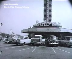 Dolores drive-up restaurant on Wilshire Blvd at the East end of Beverly Hills. late 50s Photo Credit: Marc Wanamaker/Bison Archives via Beverly Hills Historical Society
