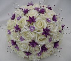 i really liked this with little purple flowers with white roses :)