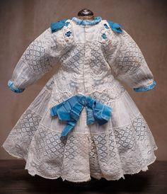 Antique original lace dress for Jumeau Bru Steiner Eden bebe or from respectfulbear on Ruby Lane