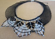 Necklace made with bobbin lace from Spain by darou on Etsy, $49.99