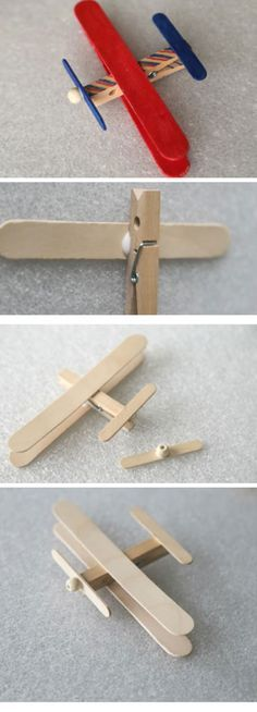 Craft Stick Airplane | 18 DIY Fathers Day Gifts from Kids for Grandpa | Easy Birthday Gifts for Dad from Kids