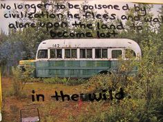 Into the Wild This movie really affected me in a powerful way. It was based on a true story .