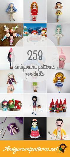 Amigurumi Patterns For Dolls Yarn Dolls, Knitted Dolls, Crochet Dolls, Crochet Baby, Amigurumi Patterns, Doll Patterns, Crochet Patterns, Doll Eyes, Crochet Animals
