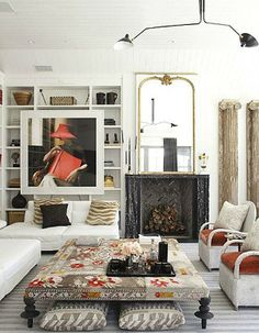 View the Windsor Smith Home Interior Design Portfolio. Windsor provides interior design services throughout southern California. Living Room Designs, Living Room Decor, Living Spaces, Living Rooms, Living Area, Style At Home, Cali Style, Home Interior, Bohemian Interior