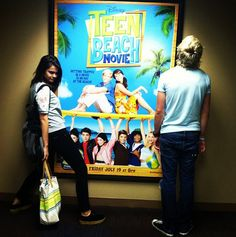 "Ross Lynch And Maia Mitchell Hanging Out With Their ""Teen Beach Movie"" Dolls"