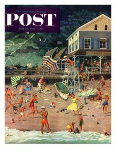 Thunderstorm at the Shore, July 10, 1954, by Ben Kimberly Prins