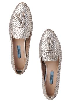 My birthday is coming up… I really, really, really, really want these Prada silver moccasins...