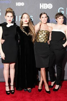 Lena Dunham And Co. at the Girls Season Two Premiere
