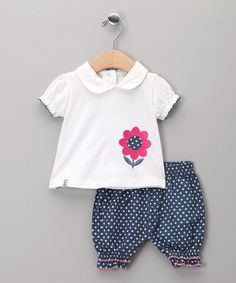 Take a look at this Navy Pin Dot Top & Shorts - Infant by Lilly & Sid on #zulily today!