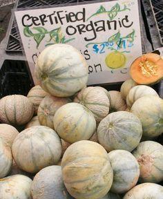 Wonderful melons at San Rafael Farmers' Market - #SanRafaelCalifornia - #MarinCounty