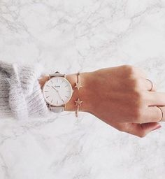 The rose gold Cluse watch is just so much perfect Marble Collection, Merry Christmas Love, Diamond Are A Girls Best Friend, Cute Jewelry, Cool Watches, Fashion Watches, Women's Fashion, Women's Accessories, Jewelry Watches