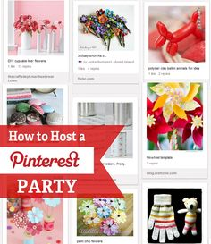 how-to-throw-a-pinterest-party Oh man, I think I have officially gone over the edge...I'm pinning about having a pinterest party!