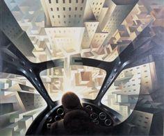 Un quadro al giorno: «Incuneandosi nell'abitato» di Tullio Crali (1939)