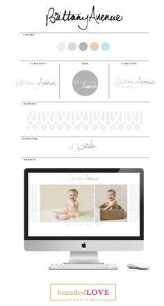 Brittany Avenue | Photography Branding Design by Branded Love www.brandedlove.com