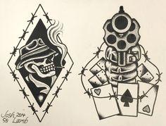 SMOKIN' GUN Traditional Tattoo