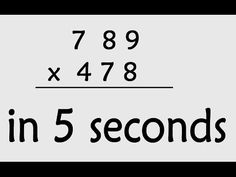 Fast Math Tricks - How to multiply 2 digit numbers up to 100 - the fast way! - YouTube