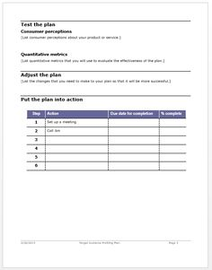 Business analysis plan template