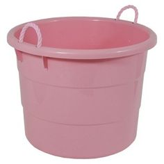 pink plastic tub with rope handles 17gal baby shower ideas pinterest pink in need and plastic. Black Bedroom Furniture Sets. Home Design Ideas