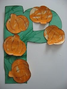Letter of The Week p !  P is for Pumpkins!