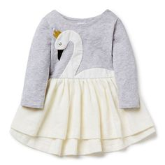 sweet little swan dress, so pretty and different. #estella #girls #fashion