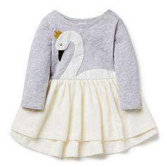 sweet little swan dress, so pretty and different. #estella #girls #fashion