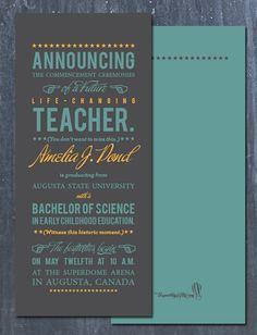 Graduation announcements <3