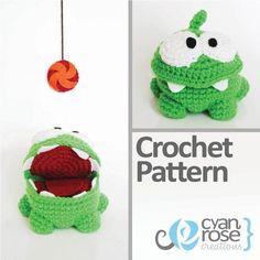 Cut the Rope Om Nom Crochet Pattern