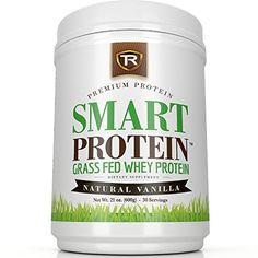 SMART PROTEIN: 4.9/5 Star Grass Fed Whey Protein Powder &100% Non-Denatured Native Whey Concentrate & Best Tasting Natural Vanilla & 1.3lbs   30 Servings   15g Of The Most Biologically Active Protein TR Supplements http://www.amazon.com/dp/B010N0YURK/ref=cm_sw_r_pi_dp_K9Niwb07VWX42