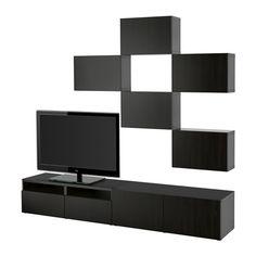 BESTÅ Ansamblu depozitare TV IKEA Sertarele se închid uşor şi silenţios; cu funcţie integrată de amortizare.