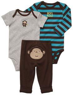 Hooded Cardigan NWT New Carter s Baby Boy12 Months 3 Piece Set Body Bodysuit