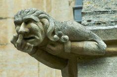 Gargoyle, Ely Cathedral, Cambridge. UK. Nose picking.