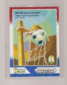 Panini 2014 Prizm World Cup Salvador Host City Poster Red White Blue Prizm 21e5a35ca