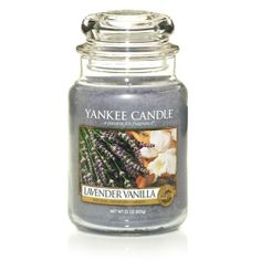 Yankee Candle Lavender Vanilla Large Jar Candle, Fresh Scent >>> You can find out more details at the link of the image. Scented Candles, Candle Jars, Vanilla Candles, Candle Holders, Yankee Candle Scents, Yankee Candles, Classic Candles, Candle Diffuser, Thing 1