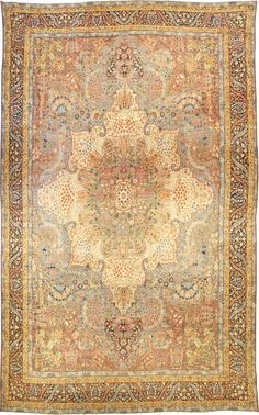 Antique Persian Kirman Rug - Best Rugs - Ideas of Best Rugs - Antique rugs NYC Antique Rug Persian Carpet with floral ornaments. Interior living room decor with century antique rugs hand knotted wool Dark Carpet, Shag Carpet, Beige Carpet, Rugs On Carpet, Modern Carpet, Carpet Flooring, Persian Rugs For Sale, Types Of Rugs, Interiors