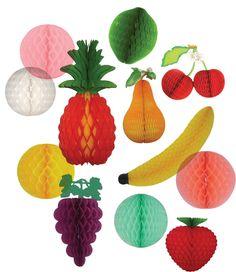 tissue paper decorations - Paper fruit! love it!
