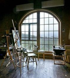 What a studio! Would love a window or two like that in my studio. Odd Nerdrum's atelier in Larvik, Norway My Art Studio, Dream Studio, Painting Studio, Studio Room, Studio Ideas, Studio Design, Dream Art, My Dream Home, Atelier D Art