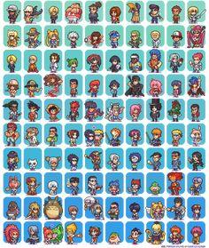 100 Manga and Anime Sprites by Neoriceisgood.deviantart.com on @deviantART