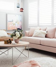 For all you blush lovers  the living room of @designdevotee via @oh.eight.oh.nine